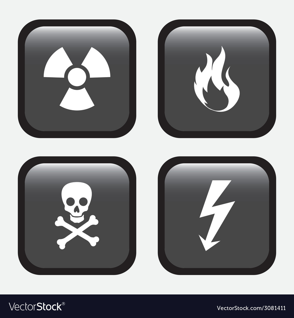 Danger signal design vector | Price: 1 Credit (USD $1)