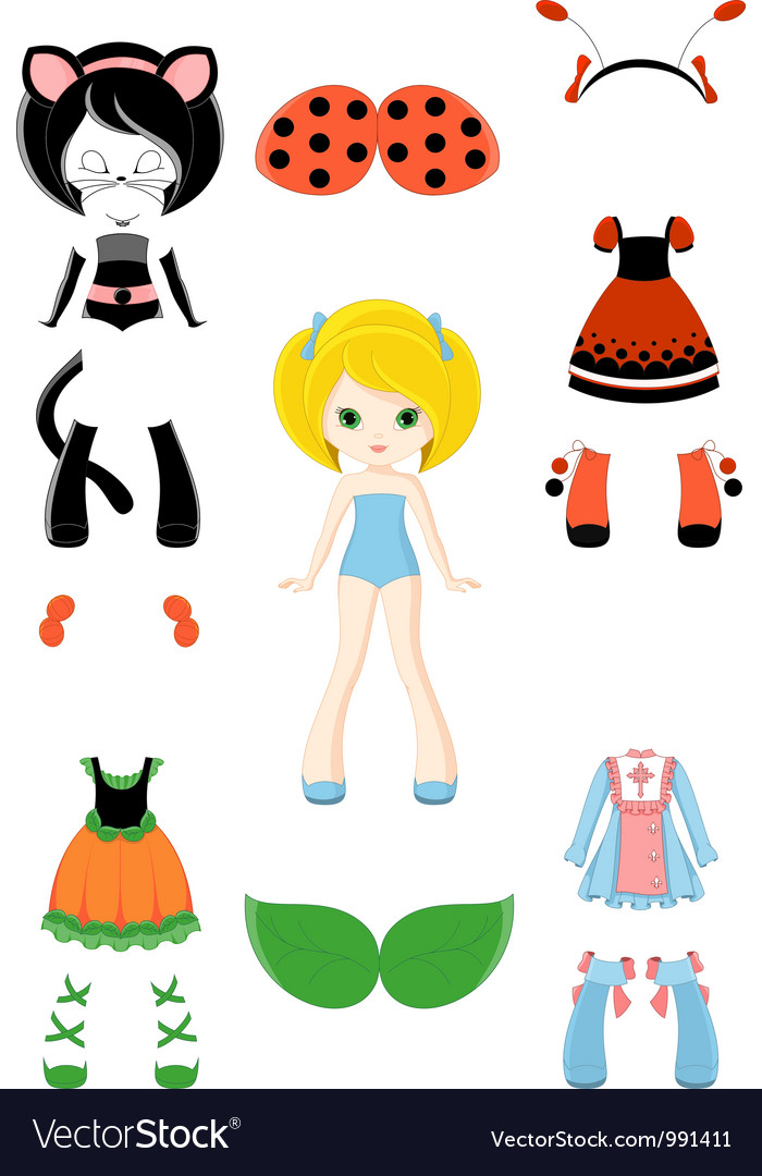 Doll vector | Price: 3 Credit (USD $3)