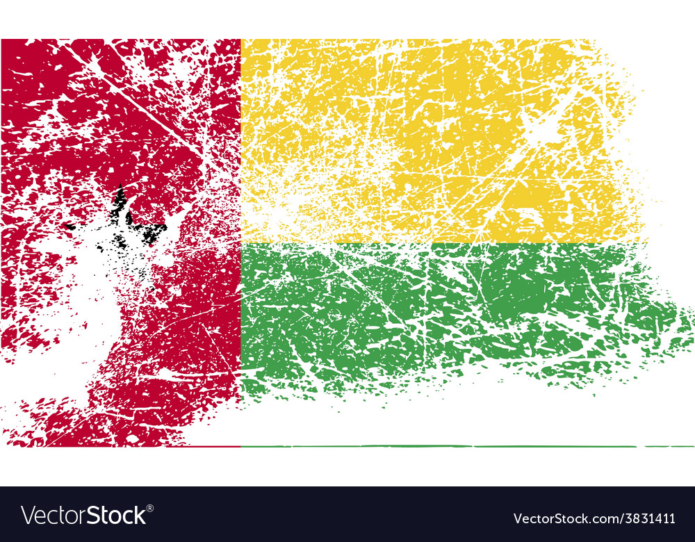 Flag of guinea-bissau with old texture vector | Price: 1 Credit (USD $1)