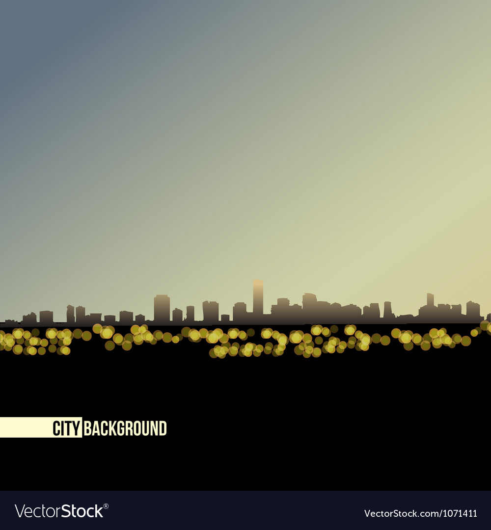 Night skyline - background vector | Price: 1 Credit (USD $1)