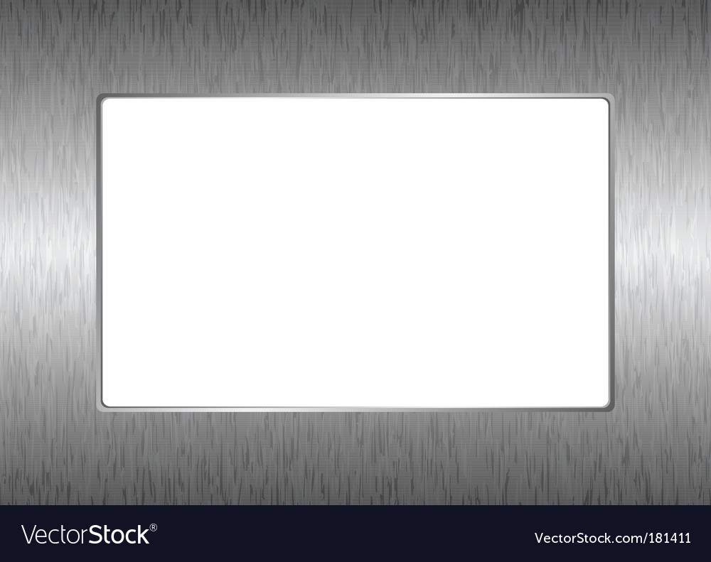 Silver picture frame vector