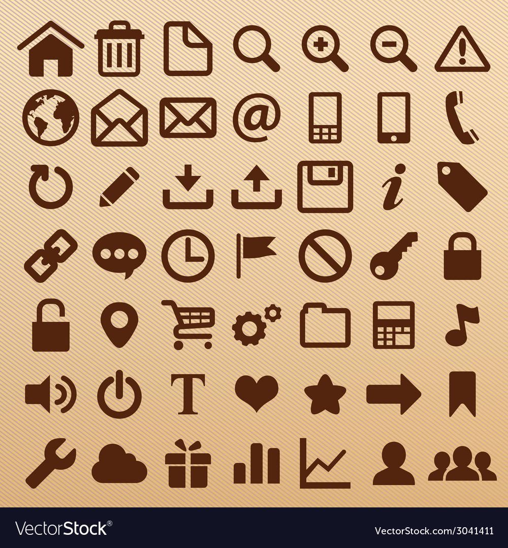 Websymbols vector | Price: 1 Credit (USD $1)