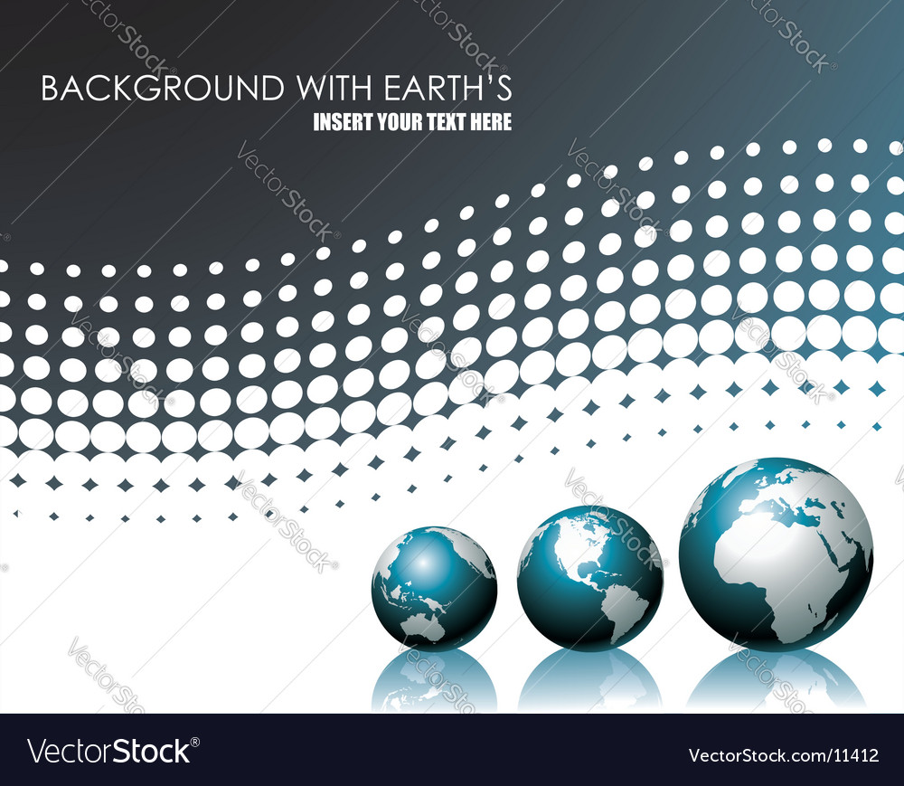 Background with three globe vector | Price: 1 Credit (USD $1)