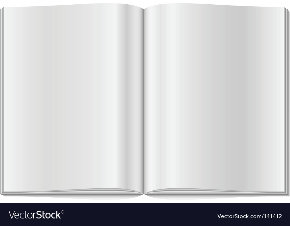 Blank opened magazine vector | Price: 1 Credit (USD $1)