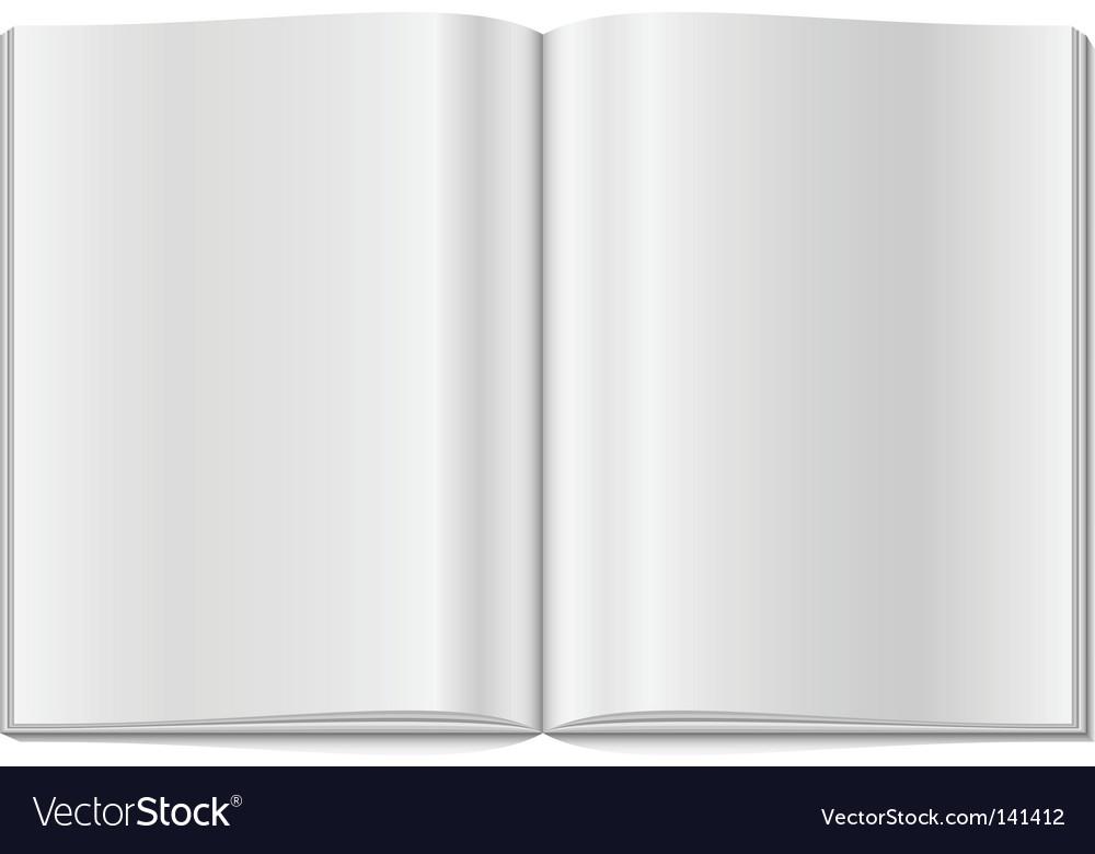 Blank opened magazine vector | Price: 1 Credit (USD $1)