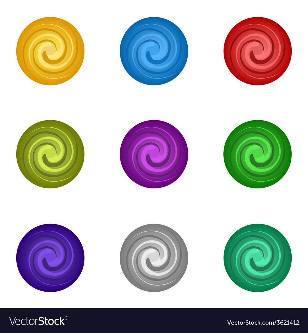 Colorful set circle paint vector | Price: 1 Credit (USD $1)