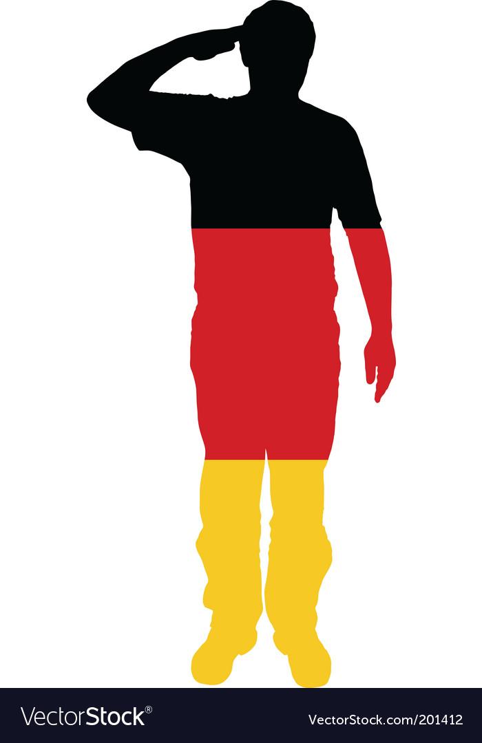German salute vector | Price: 1 Credit (USD $1)