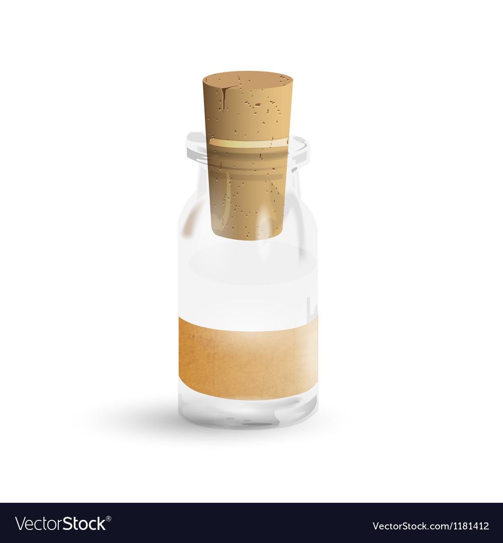 Old medication bottle vector | Price: 1 Credit (USD $1)