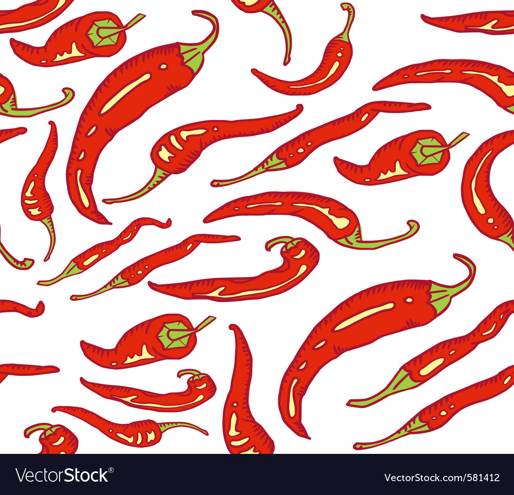 Red hot chili peppers seamless vector | Price: 1 Credit (USD $1)