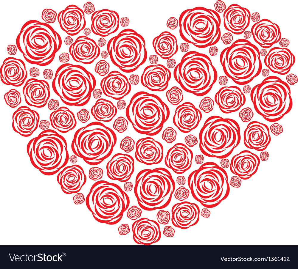 Rose heart vector | Price: 1 Credit (USD $1)