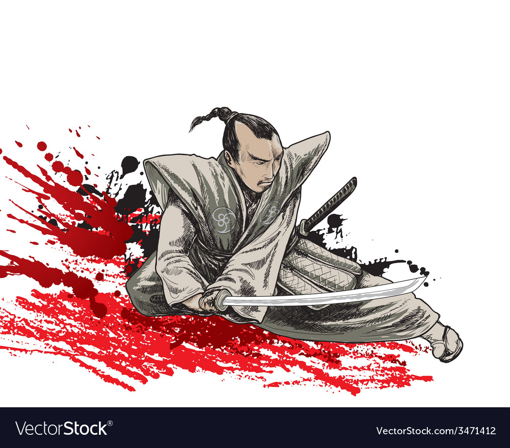 Samurai samurai 01 vector | Price: 3 Credit (USD $3)