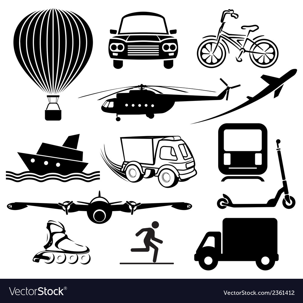 Transport icons1 vector | Price: 1 Credit (USD $1)