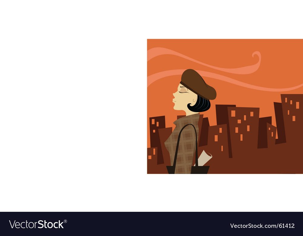 Urban lady vector | Price: 1 Credit (USD $1)