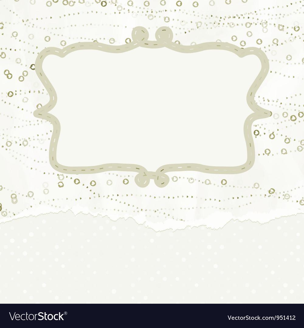 Vintage valentine card vector | Price: 1 Credit (USD $1)