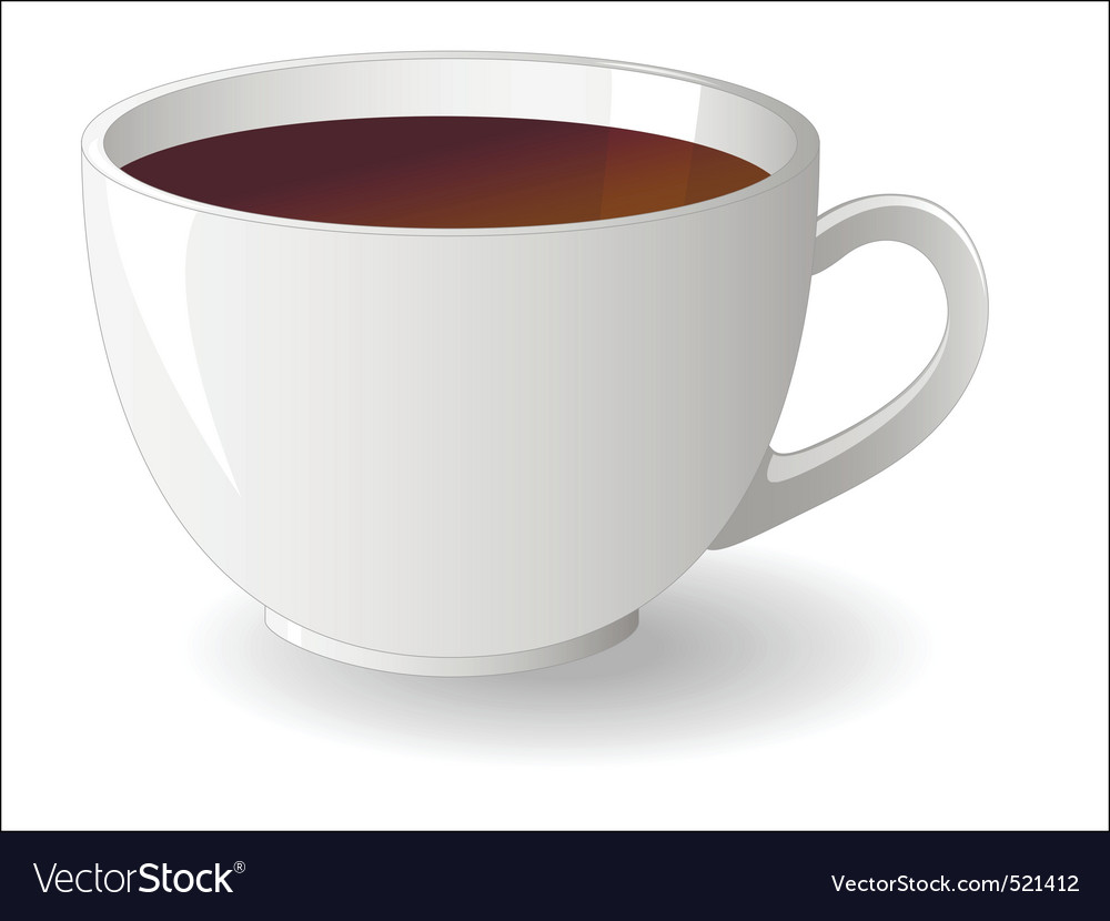 White cup of tea vector | Price: 1 Credit (USD $1)