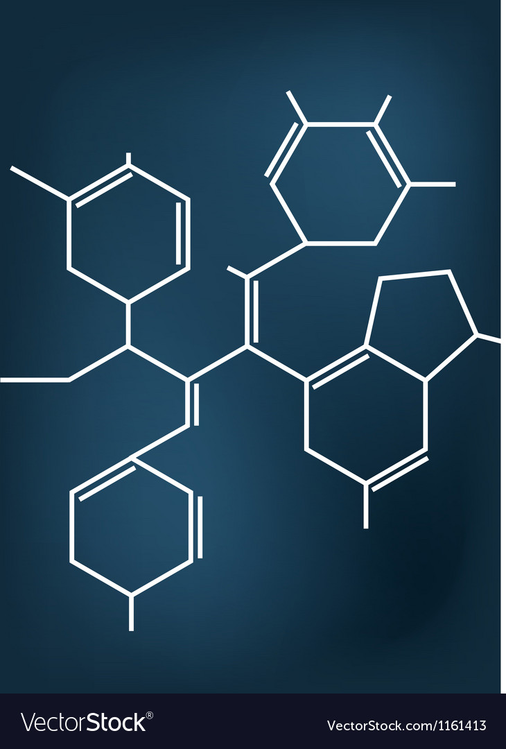 Abstract chemical formula vector | Price: 1 Credit (USD $1)