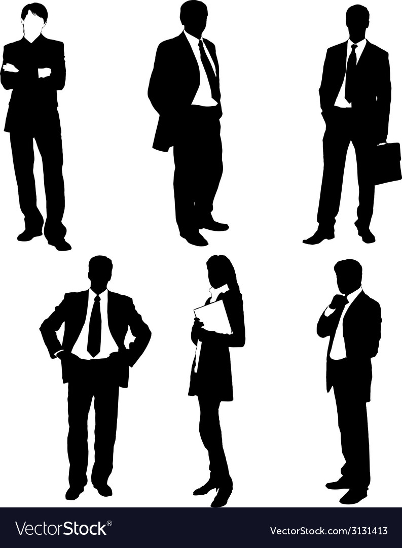 Business people silhouettes vector   Price: 1 Credit (USD $1)