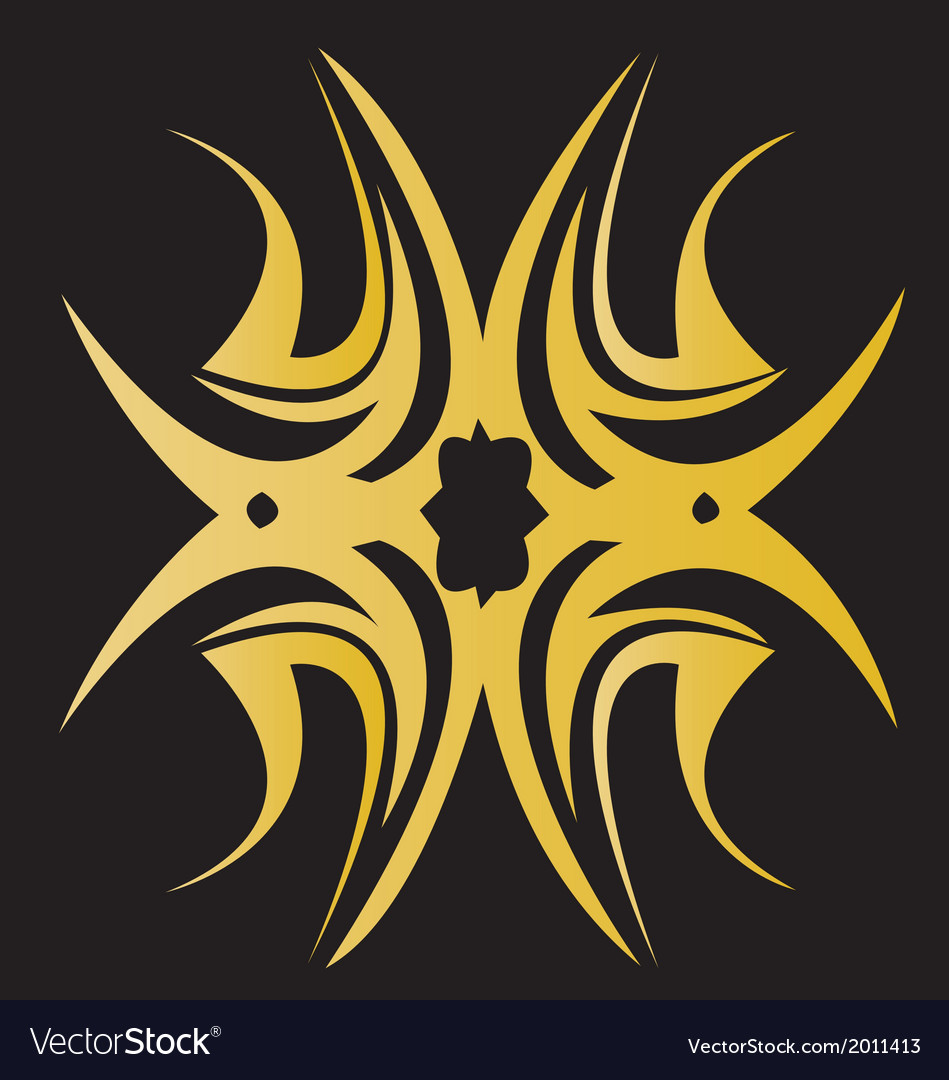 Editable of an ornate tribal star vector | Price: 1 Credit (USD $1)