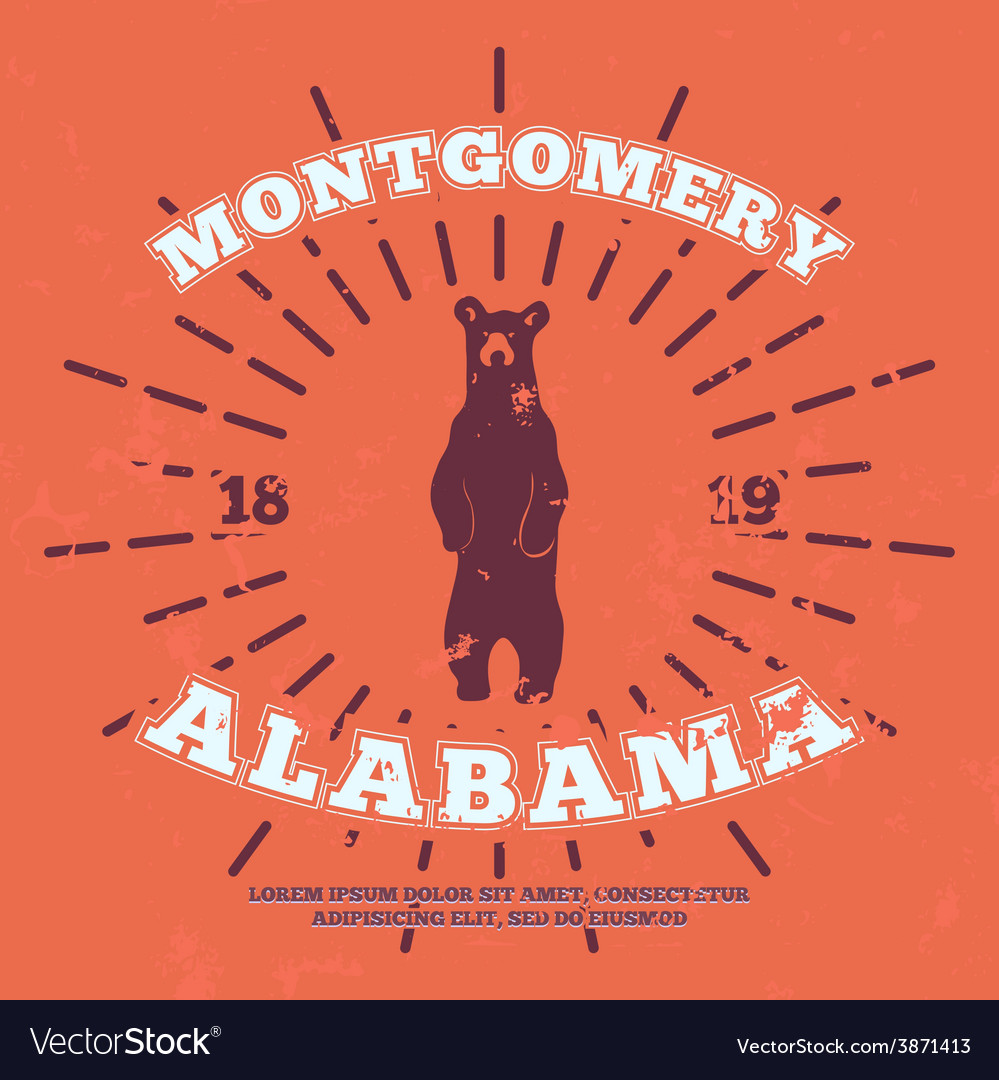Montgomery alabama grunge on separate layer vector | Price: 1 Credit (USD $1)