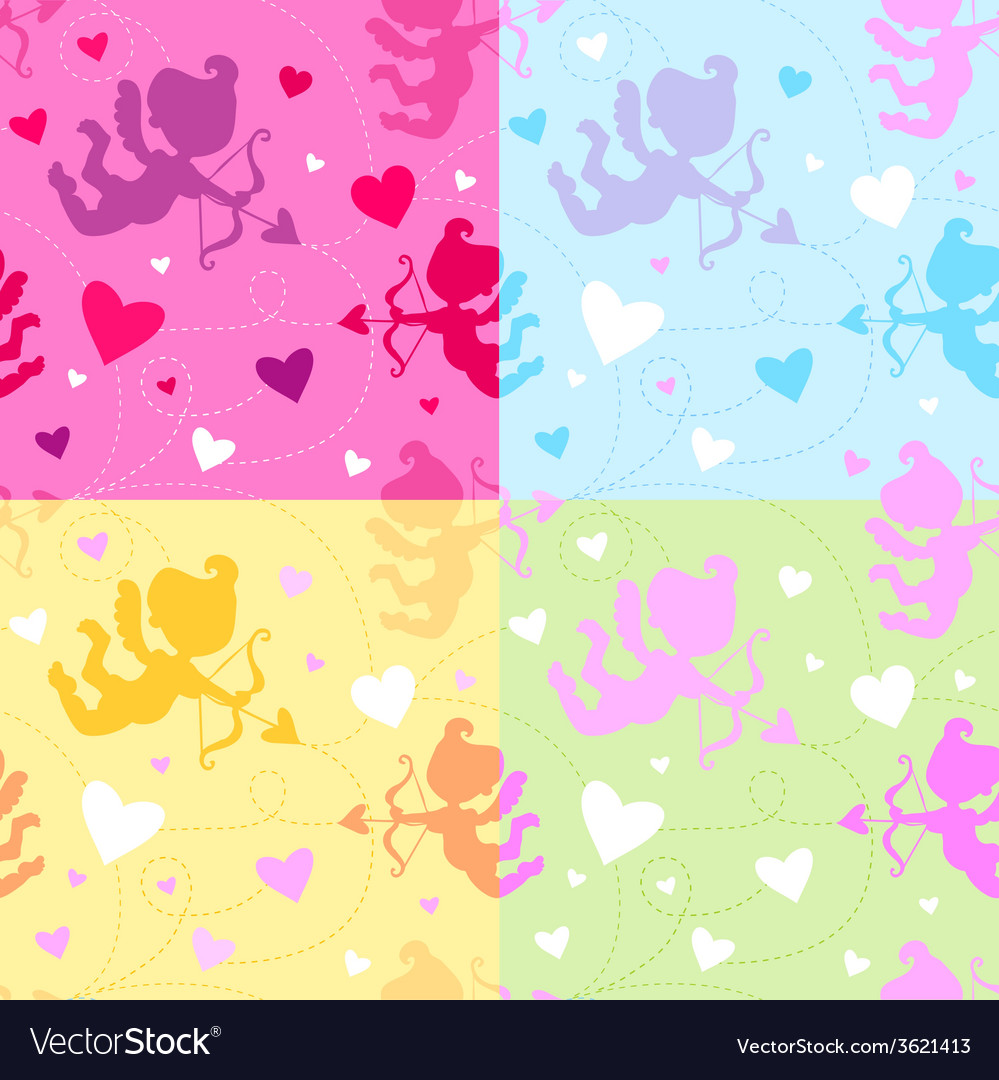 Seamless pattern with cupids vector | Price: 1 Credit (USD $1)