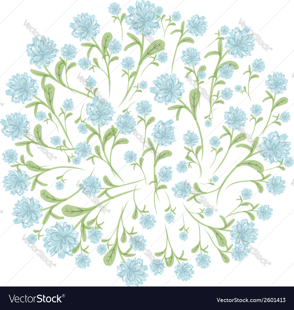 Spring floral frame for your design vector | Price: 1 Credit (USD $1)