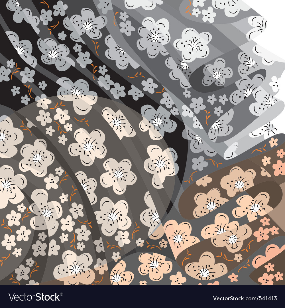 Transparent floral fabric vector | Price: 1 Credit (USD $1)