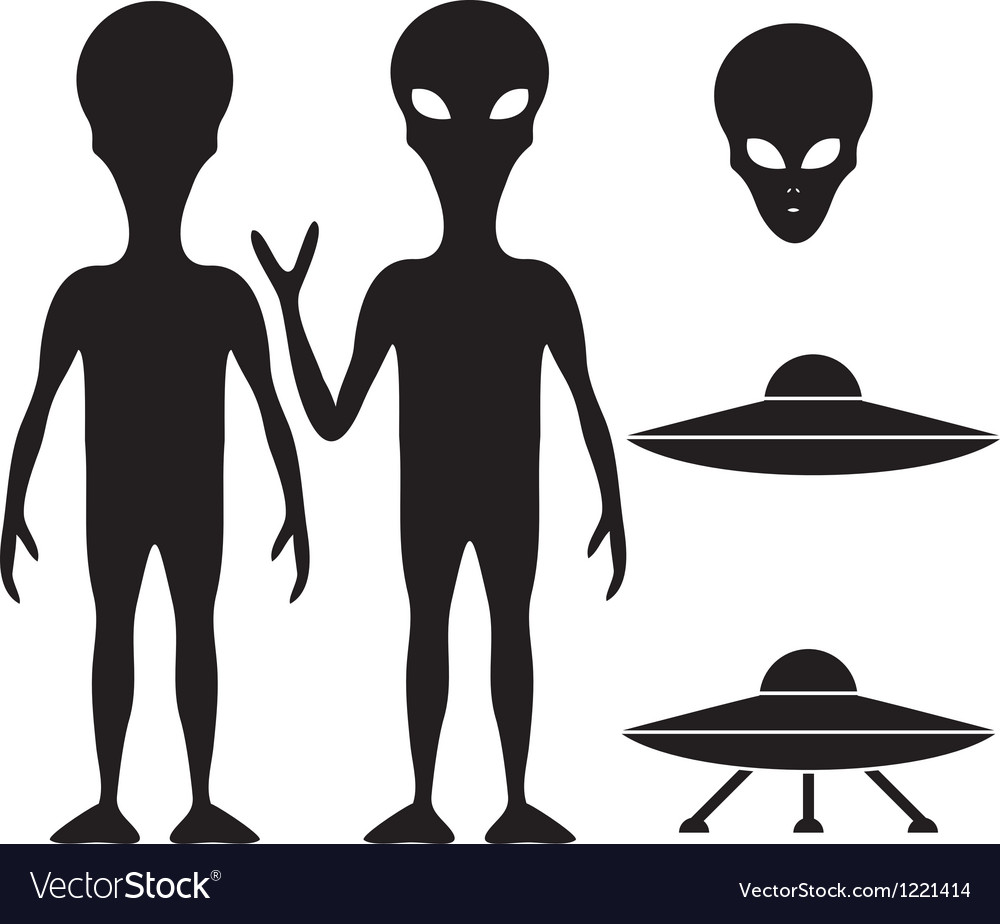 Alien and ufo vector | Price: 1 Credit (USD $1)