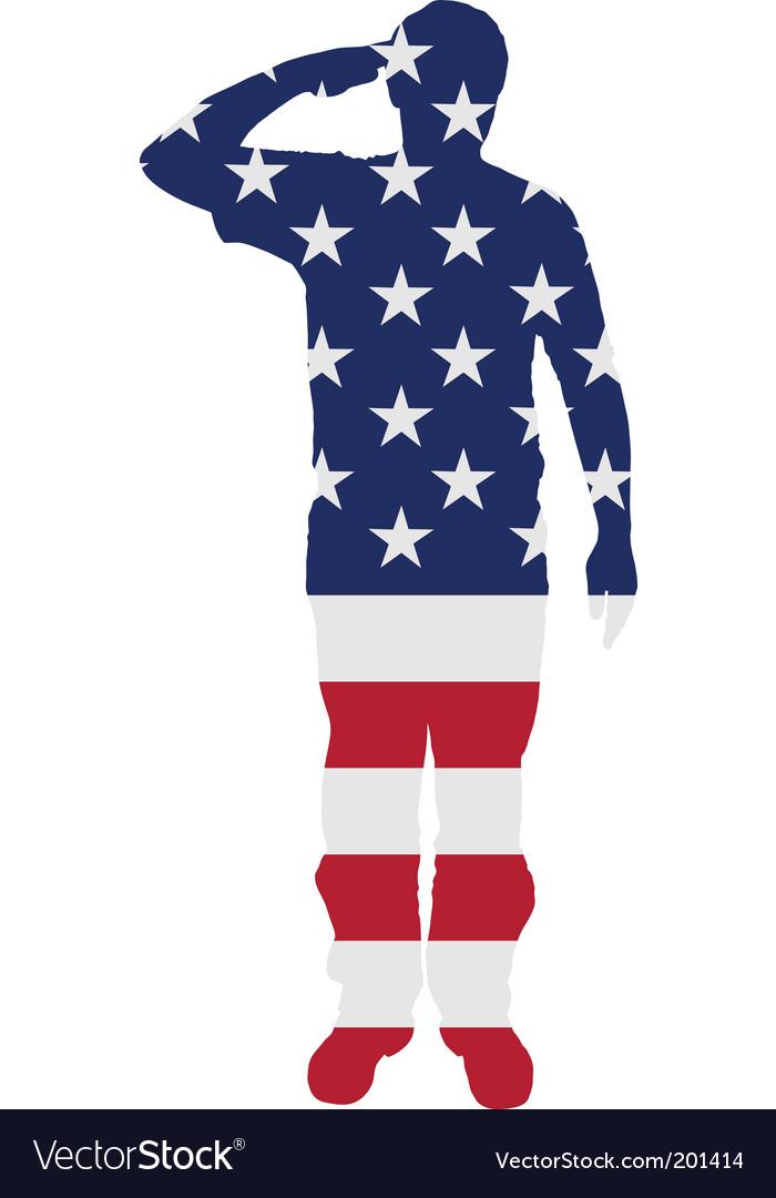 American salute vector | Price: 1 Credit (USD $1)
