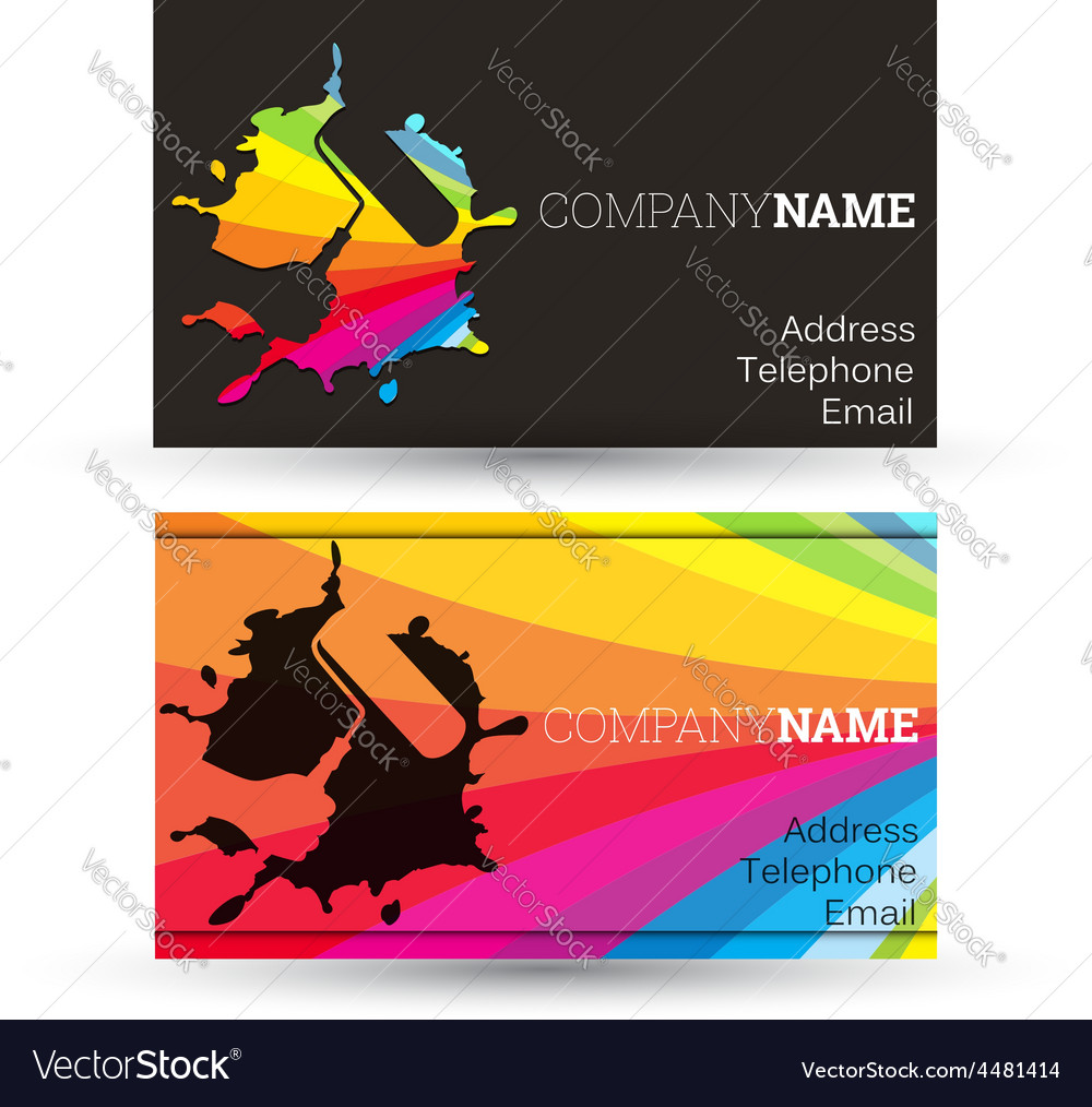Business card painting vector | Price: 1 Credit (USD $1)
