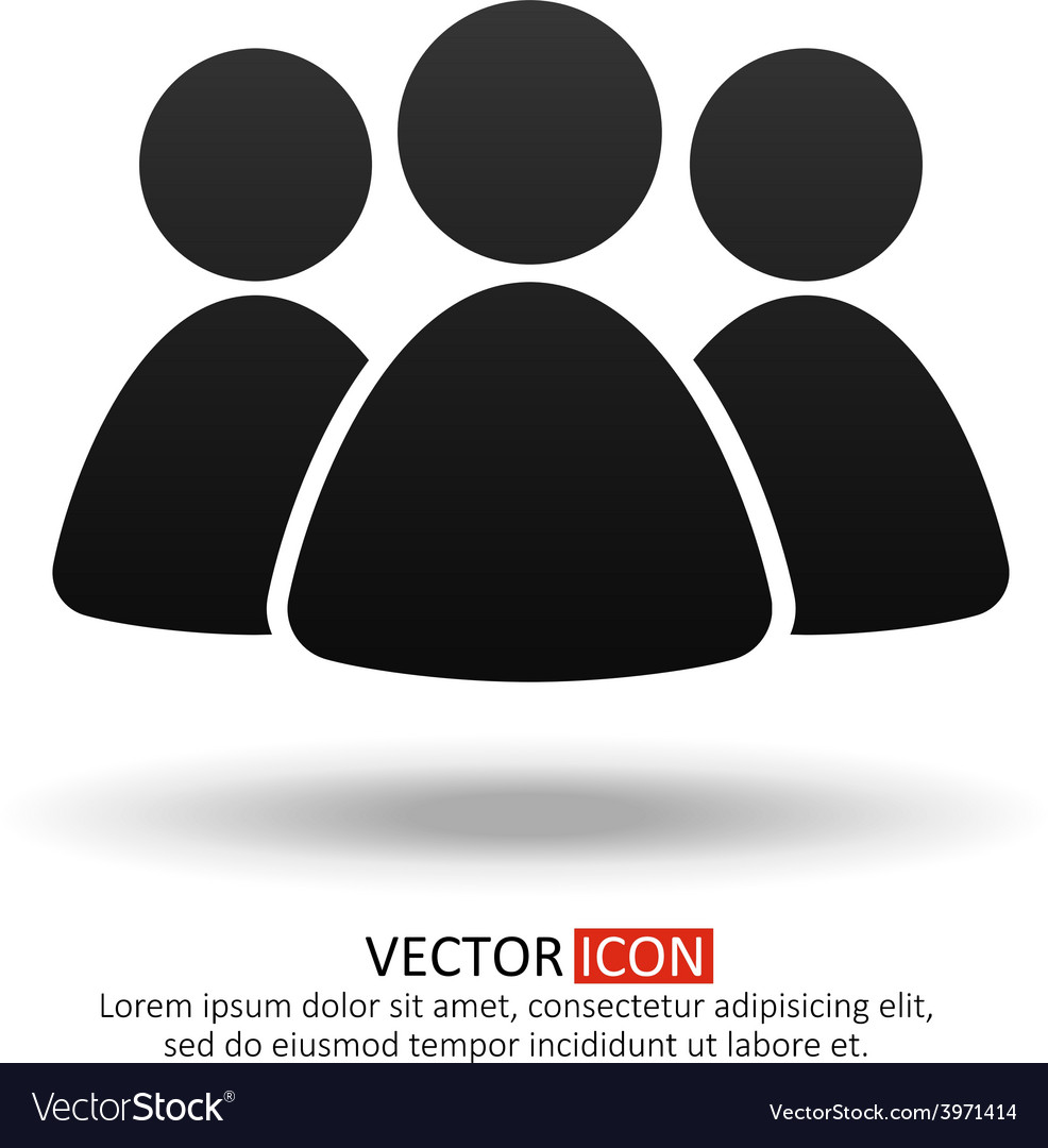 Business team icon vector | Price: 1 Credit (USD $1)