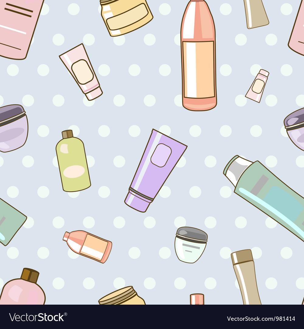 Cosmetics pattern vector | Price: 1 Credit (USD $1)
