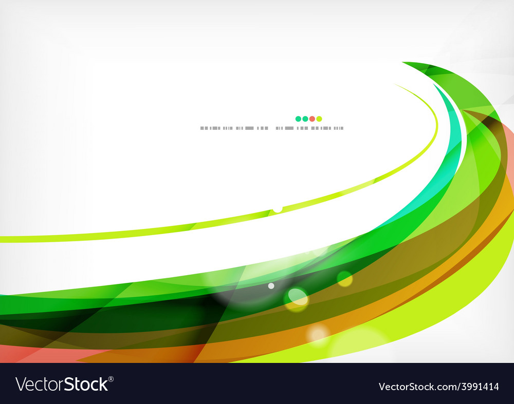 Green and red line swirls vector | Price: 1 Credit (USD $1)