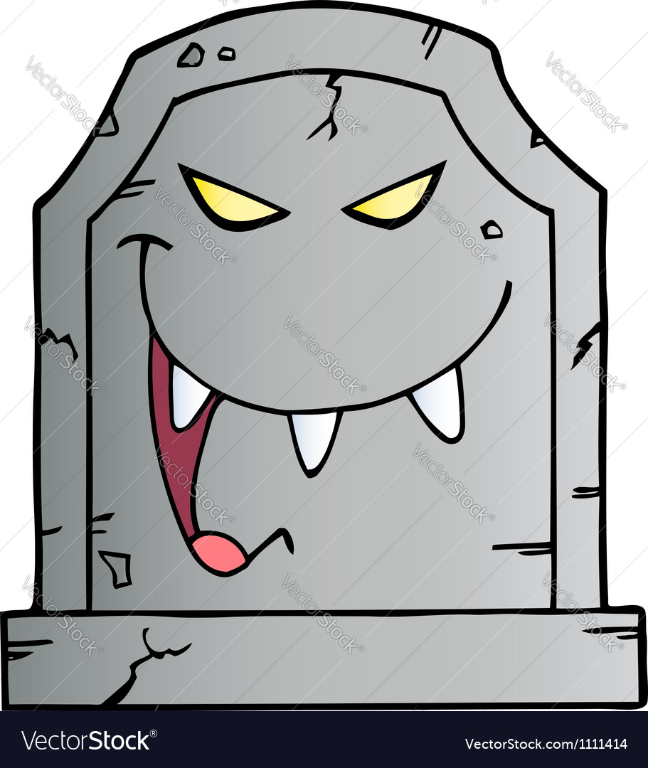 Laughing evil headstone vector | Price: 1 Credit (USD $1)