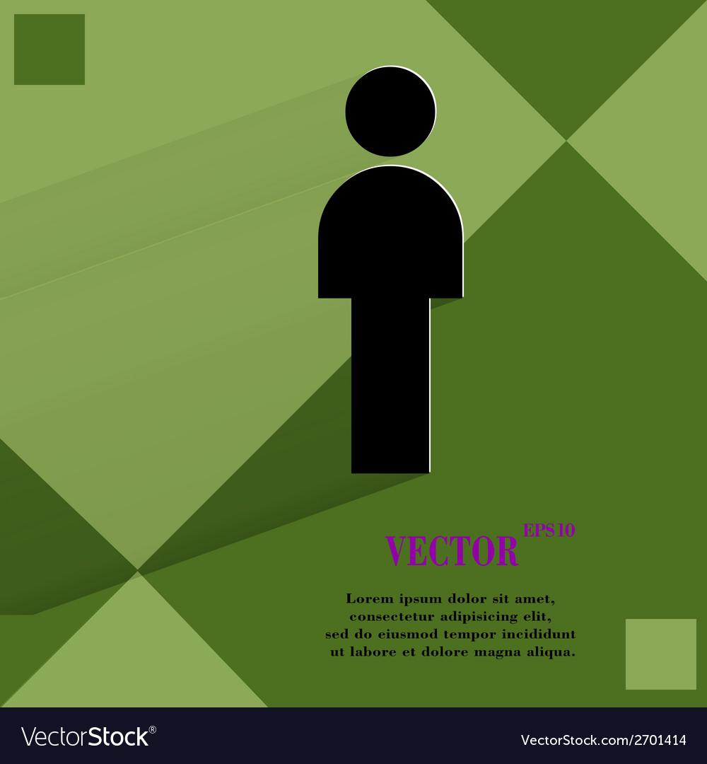 Man restroom flat modern web design on a flat vector | Price: 1 Credit (USD $1)