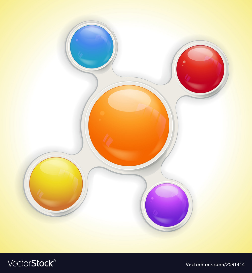 Metaball bubble infographic no text vector