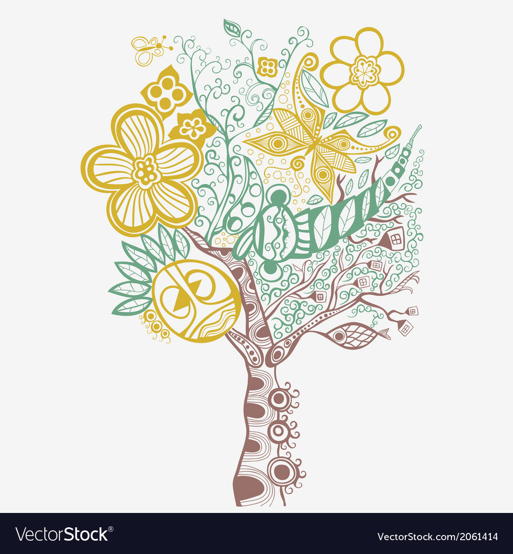Surreal abstract tree art vector | Price: 1 Credit (USD $1)