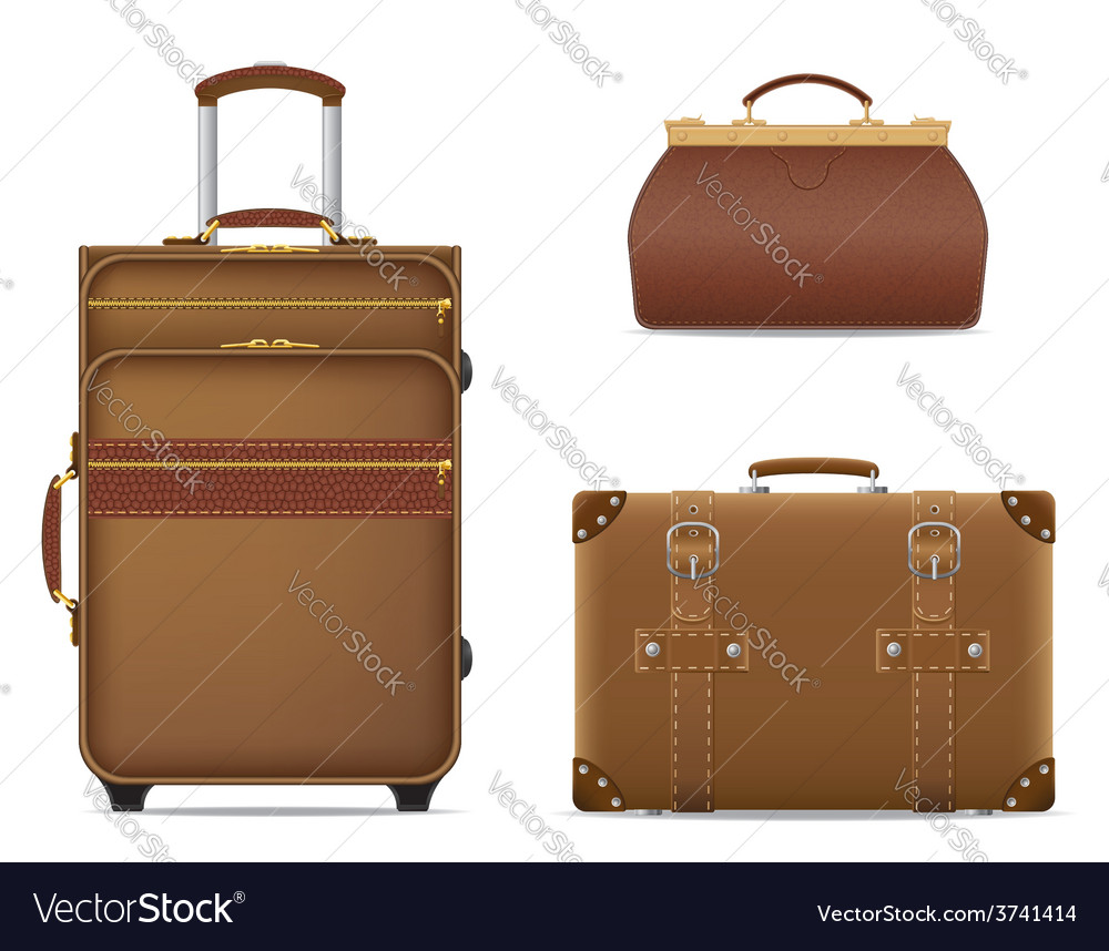 Travel bags 01 vector | Price: 1 Credit (USD $1)