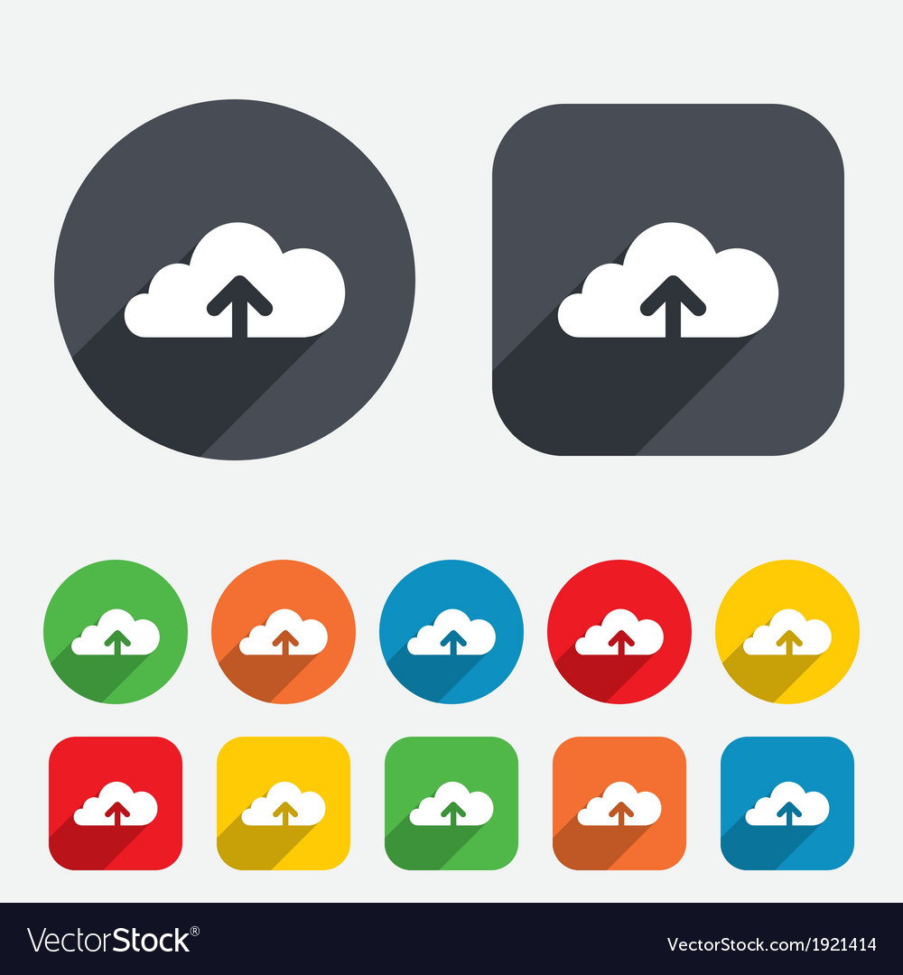 Upload to cloud icon upload button vector   Price: 1 Credit (USD $1)