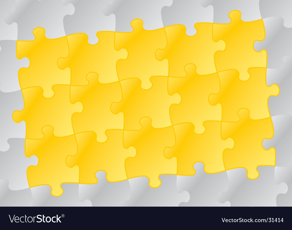 Yellow puzzle background vector | Price: 1 Credit (USD $1)