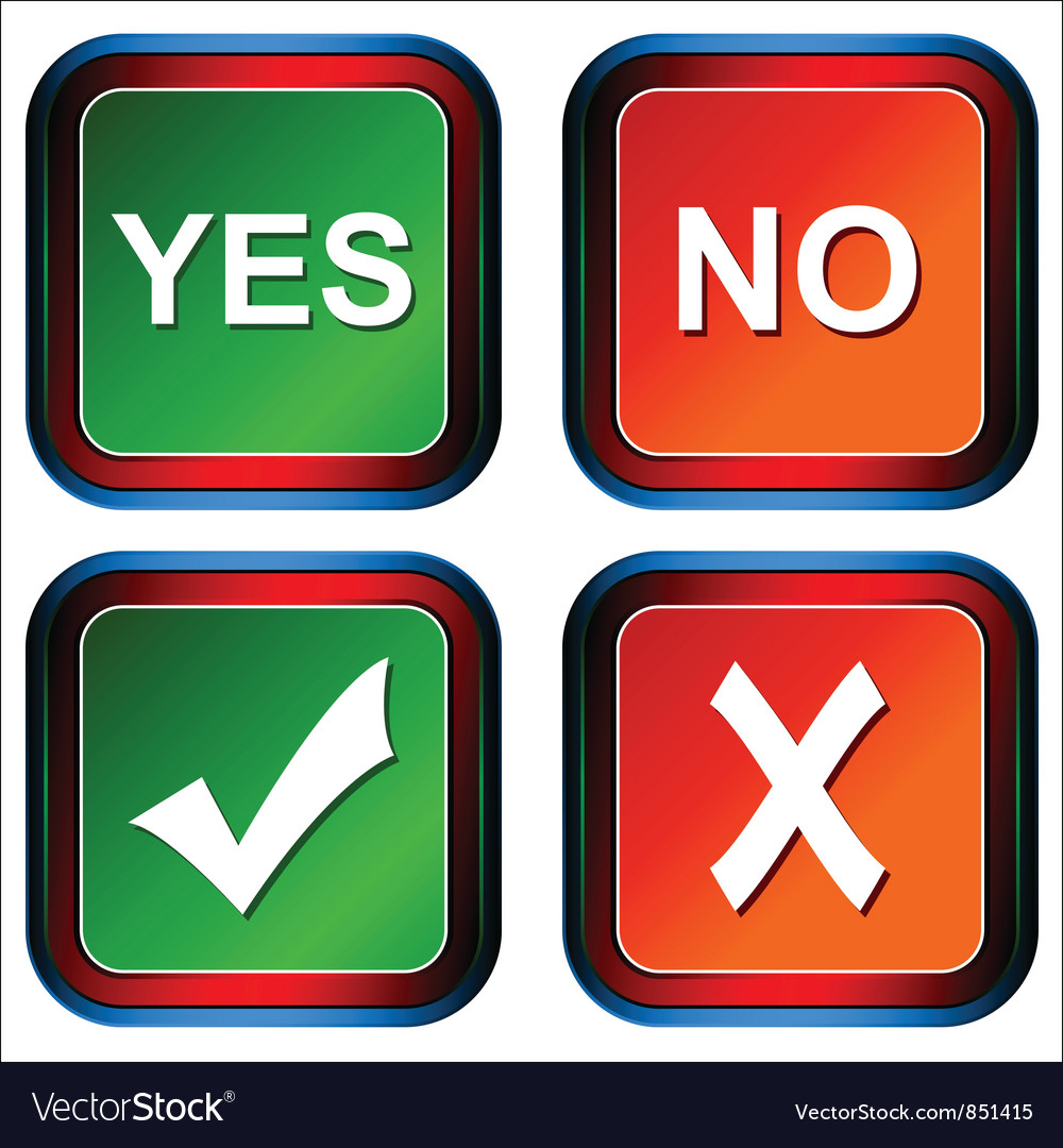 Buttons yes and no vector | Price: 1 Credit (USD $1)