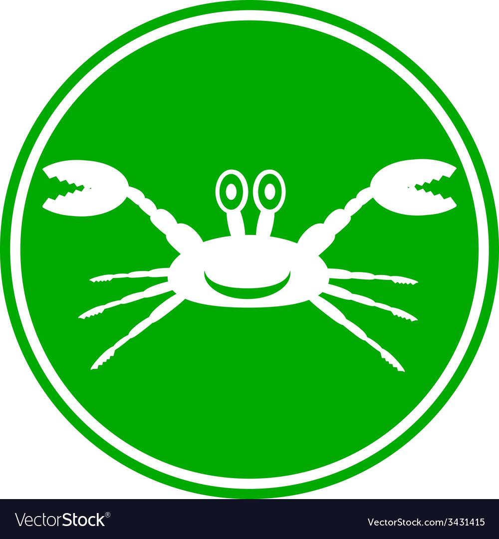 Crab button vector | Price: 1 Credit (USD $1)
