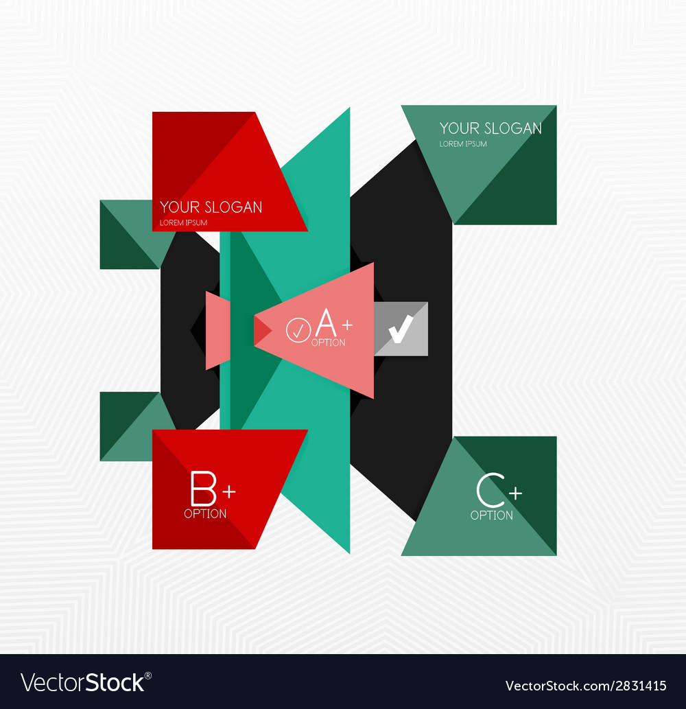 Geometric abstract background layout vector | Price: 1 Credit (USD $1)