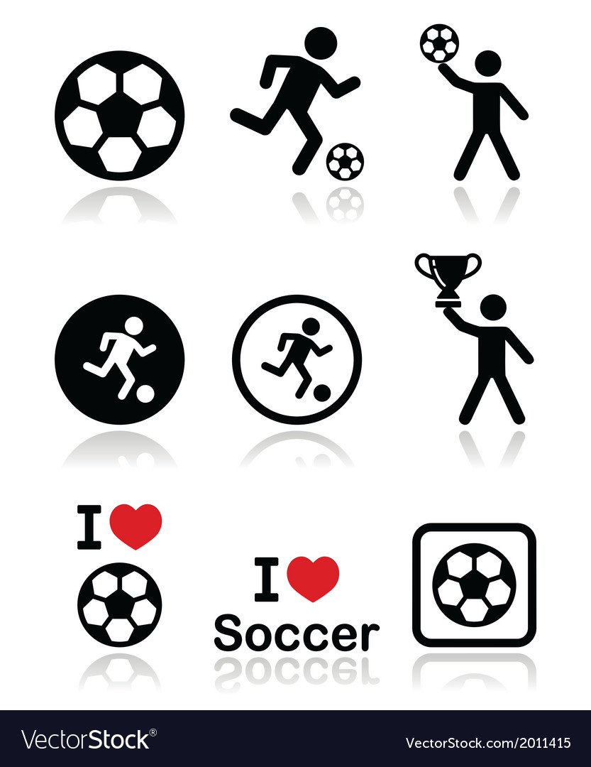 I love football or soccer man kicking ball vector | Price: 1 Credit (USD $1)