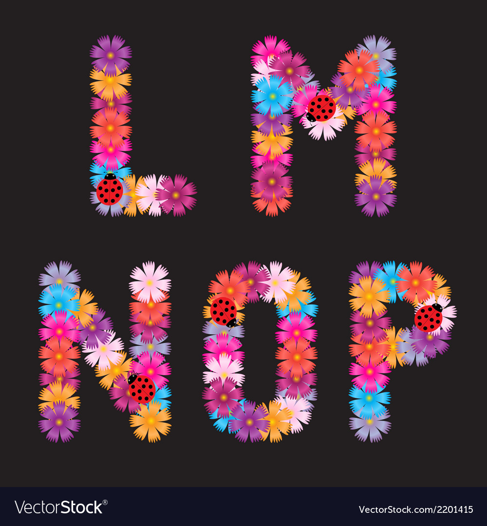 Letters of flowers vector | Price: 1 Credit (USD $1)
