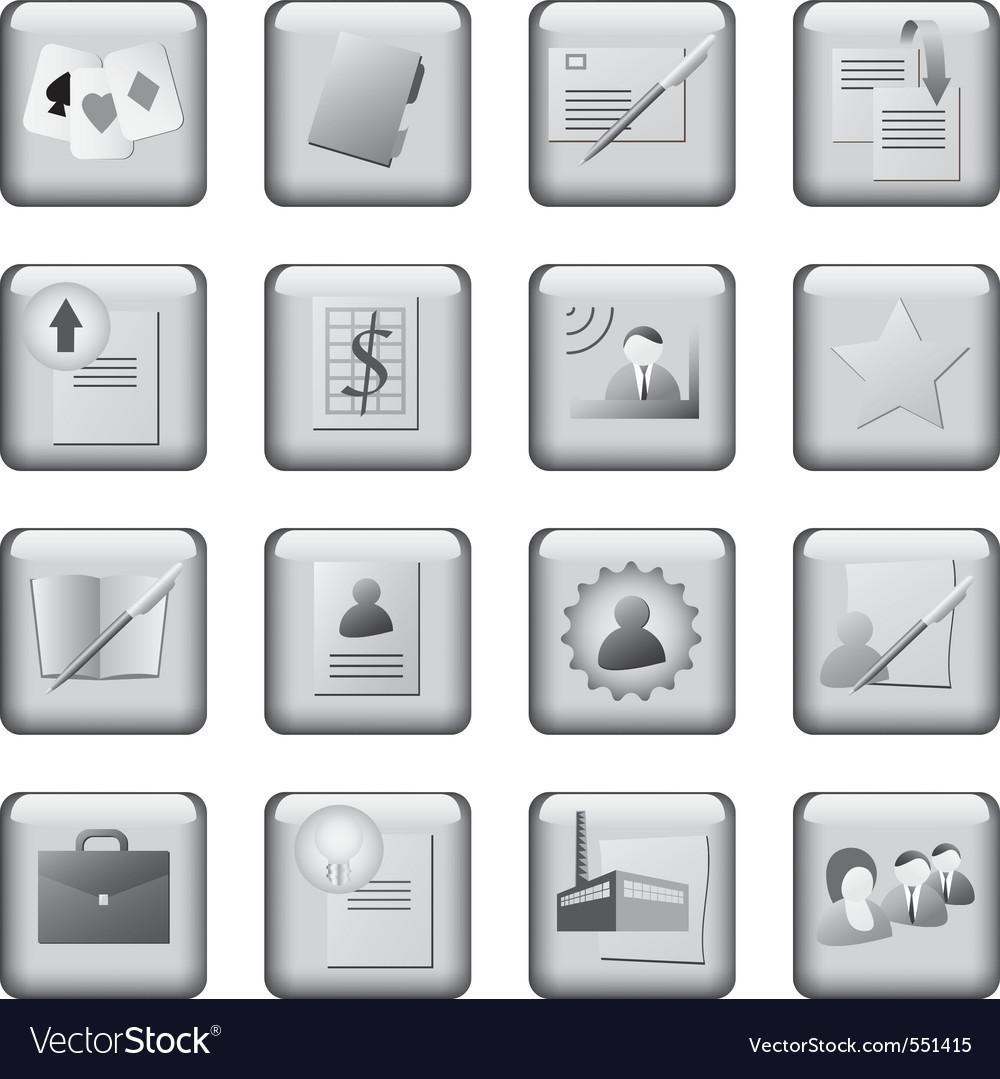 Monochrome icons set vector | Price: 1 Credit (USD $1)