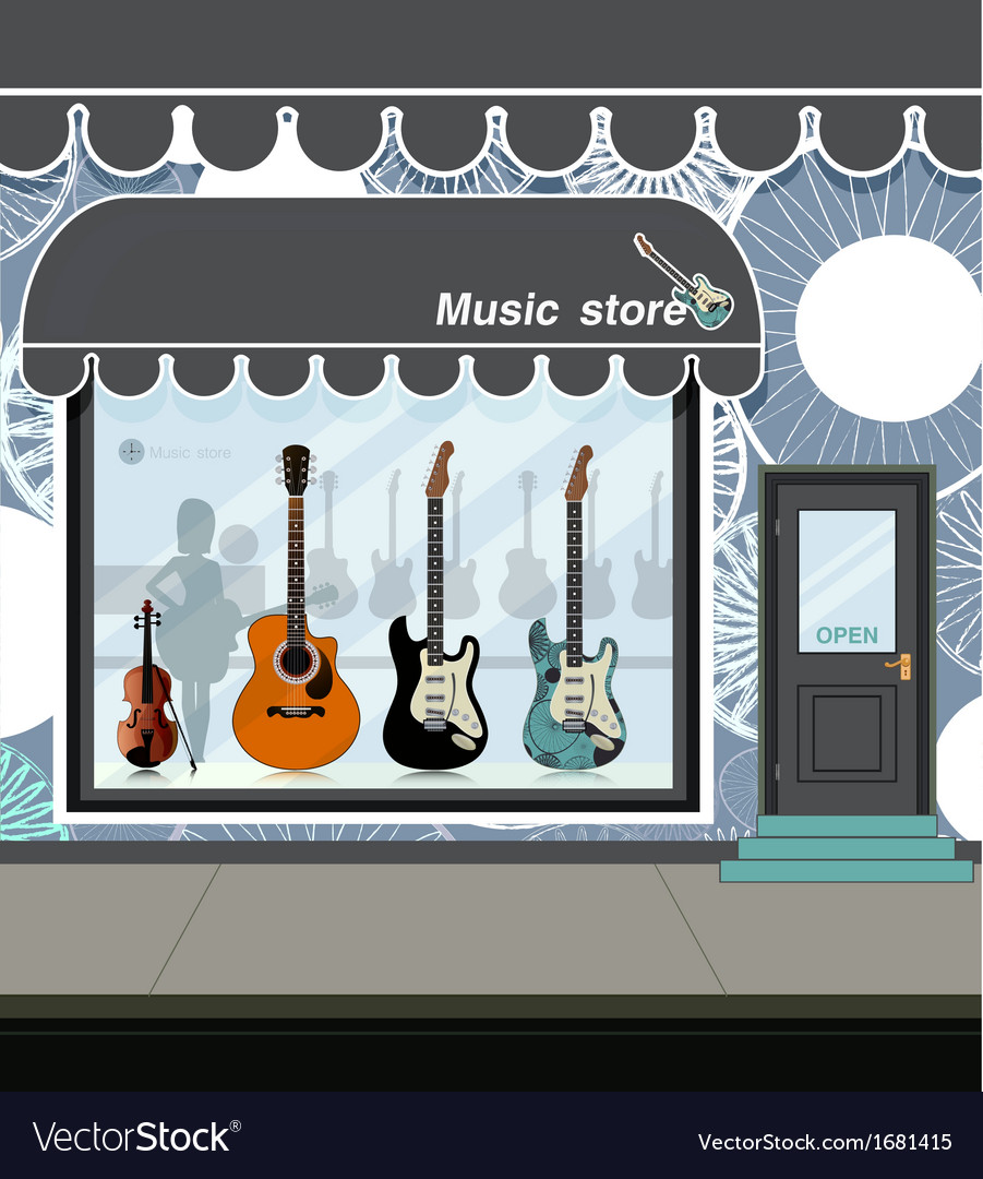 Music store vector | Price: 1 Credit (USD $1)