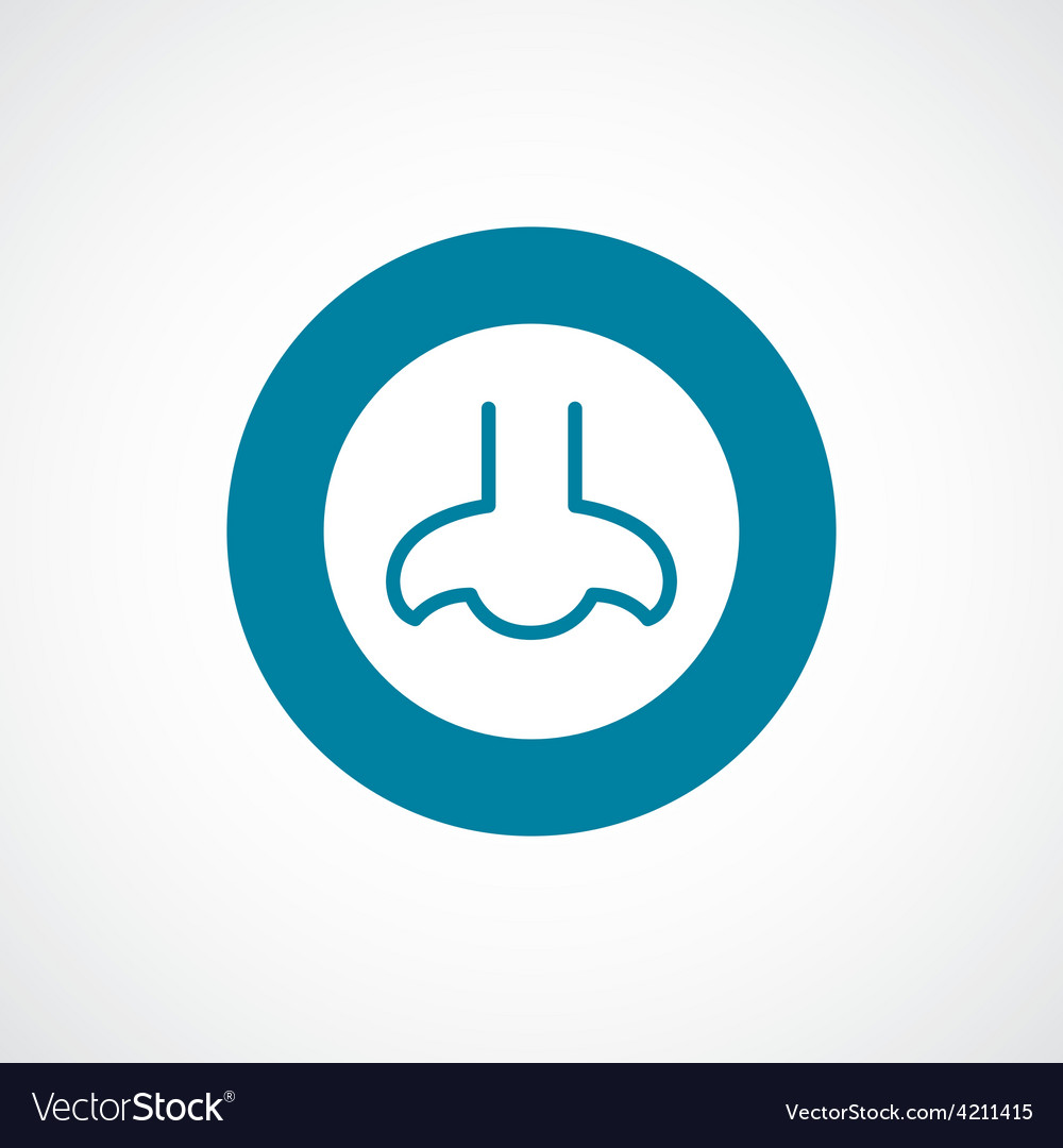 Nose icon bold blue circle border vector | Price: 1 Credit (USD $1)