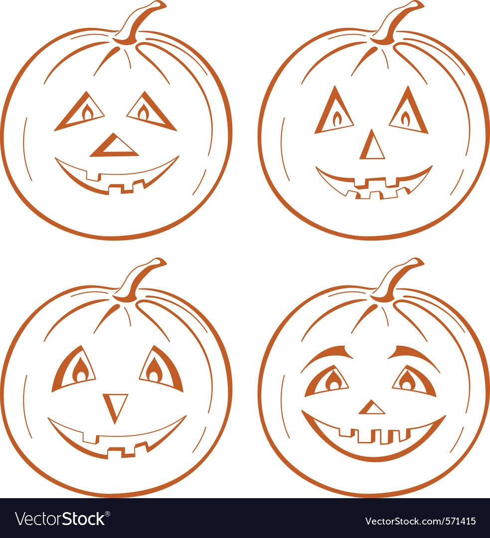 Pumpkin jack o lantern vector | Price: 1 Credit (USD $1)