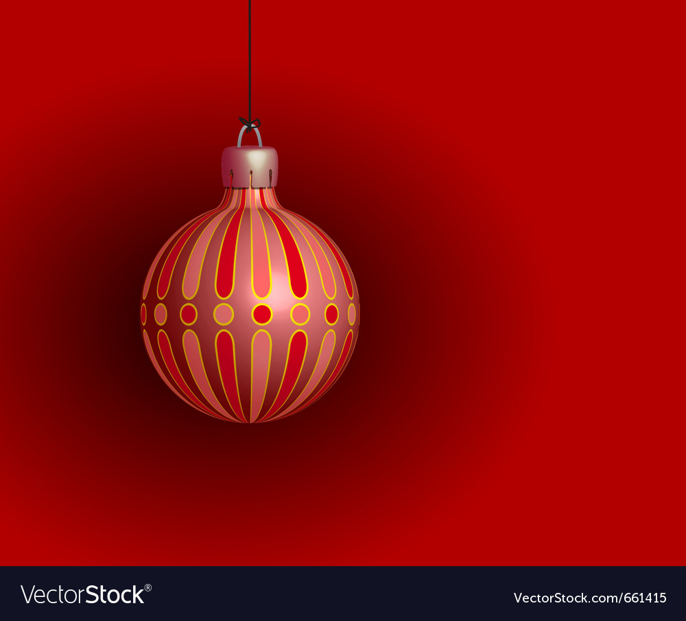 Red christmas ball on a red background vector | Price: 1 Credit (USD $1)