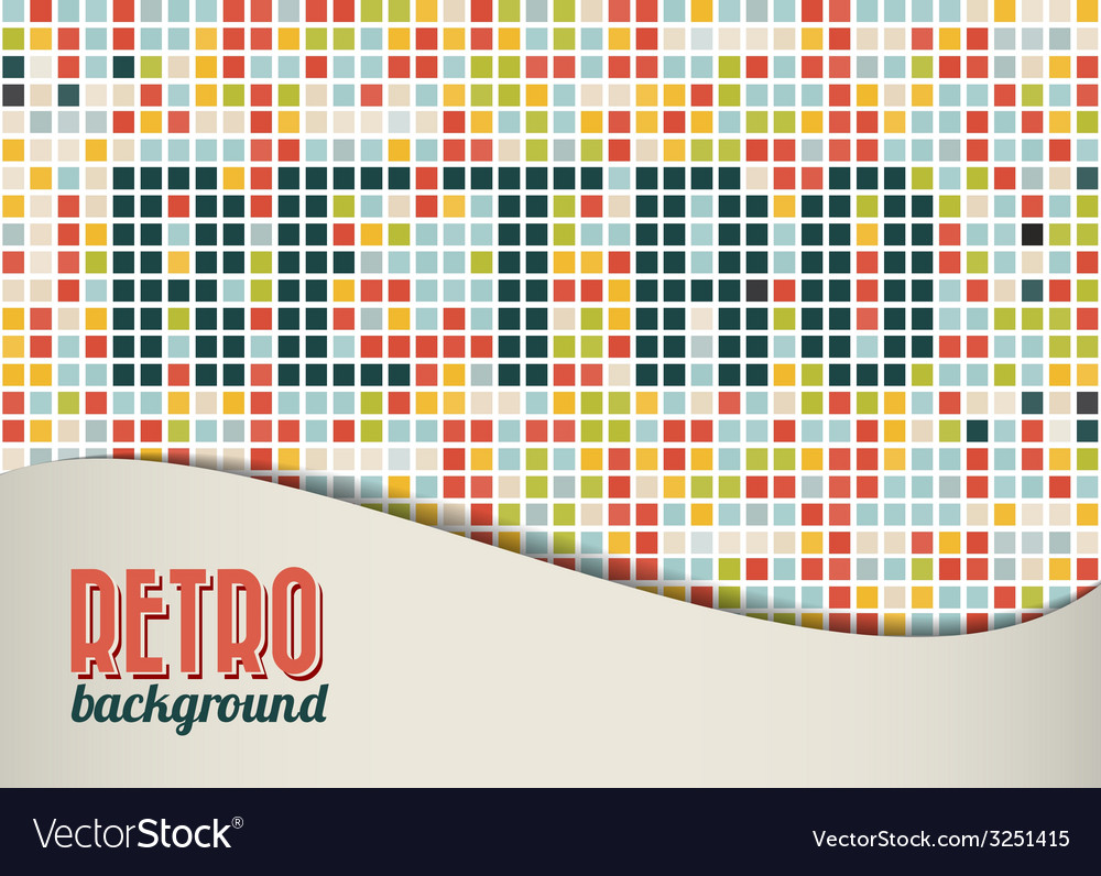 Retro background template vector | Price: 1 Credit (USD $1)